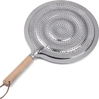 ingrosso cucina woks-Stuoie di caffè Isolamento Pentola Pad Utensili da cucina Strumento Argenteo circolare Wok Stand manico in legno di ferro Spedizione gratuita 1 45rf V