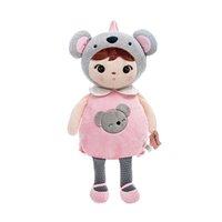 sacs à dos de poupée achat en gros de-Metoo Koala 3D Sacs à dos pour enfants en peluche Sacs à dos pour enfants filles poupées mignonnes panda étudiants 57 * 26 cm