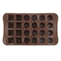 moldes para chocolates venda por atacado-2018 vendas quentes !!! 24 furos de chocolate moldes para chocolate sólido grades molde de cozimento de chocolate