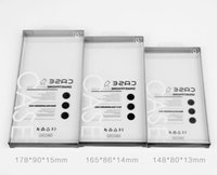 housse mobile pour iphone simple achat en gros de-En gros Simple Noir Clair en plastique pvc emballage boîte d'emballage pour les cas de téléphone portable pour iPhone XS Max 8 7 6 6 plus couverture