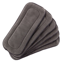Wholesale liner baby cloth resale online - Baby Layer Charcoal Bamboo Inserts Reusable Liners for Cloth Diapers