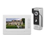 kit de color ir al por mayor-HD 7 pulgadas TFT Video en color teléfono de la puerta Intercom Timbre de la puerta Kit IR Cámara Doorphone Monitor Altavoz Intercom