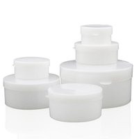 Wholesale medicine jars resale online - 5g g g g g empty cream container with button small skin care cream jar ointment sample plastic container medicine box QW7127