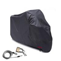 ingrosso copertura nera del motociclo-Protezione anti UV per motocicli Protezione anti-polvere per la protezione solare Forniture da esterno con fibbia Fascia elastica Cappuccio per auto elettrica Nero 36 yhs B