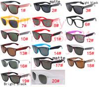 uv gözlük toptan satış-Yaz Marka Tasarımcısı Moda Erkekler için Güneş Gözlüğü UV Koruma Açık Spor Bağbozumu Kadın Güneş gözlükleri Retro Gözlük 18 renkler ücretsiz kargo