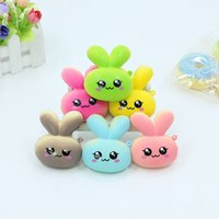 Wholesale photographic prop wholesalers online - Rabbit Bread Doll Model Squishy Kawaii Charms Decompression Toys Squeeze Simulation Toy Colourful Squishies Photographic Props Funny cr X