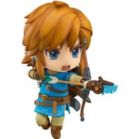Wholesale legend zelda figures - Hot 10CM Good Smile The Legend Of Zelda Breath Of The Wild Link Action Figure Free Shipping