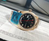 ingrosso braccialetto delle donne asiatiche-Orologio da donna di alta qualità 31mm quadrante nero 118205 Asian 2813 movimento Giubileo Bracciale in oro rosa 18 carati orologi da donna meccanici