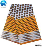 tecidos java print venda por atacado-Belas cera Africano tecidos estampados Ancara cera real tecido cera java java HJ