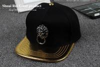 Wholesale baseball skins - 2018 Snake skin along a baseball cap.Lion head street wind fashionable man Hip-hop cap.Chinese style personality Baseball cap