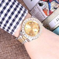 ingrosso orologio perpetuo della data-2018 relogio Luxury Mens Brand Men Watch Big Diamonds Day-Date Marca Acciaio Perpetuo Presidente Diamond Automatic orologio da polso