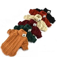 Wholesale sweater colors turtleneck online - 6 Colors Wool Knitted Pet Clothes Universal Elasticity Cat Dog Turtleneck Sweater Comfortable Puppy Clothing For Winter wq BB