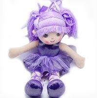 ingrosso ragazza giocattolo viola-Smilesky Ballerina Dolls Peluche Soft Toys Dance Recital I migliori regali per le ragazze Purple