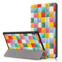 ledertasche für huawei mediapad großhandel-Folding Folio-Abdeckung für Huawei MediaPad T5 10 10.1