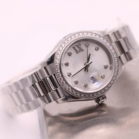 Wholesale classic watch mechanical woman - Classic luxury brand women 26mm automatic mechanical watch No battery sweeping movement Stainless steel clock AAA Date model watches 1239