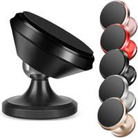 ipad manyetik ayaklık toptan satış-360 Dönme Derece Manyetik Araç Montaj Tutucu Standı iphone samsung ipad için cep telefonu braketi gps cep telefonu