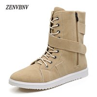 Wholesale comfy shoe brands - ZENVBNV Brand 2017 Fashion Winter Shoes For Men Suede Leather Snow Men Boots High Quality Comfy Casual Shoes Size 39-44