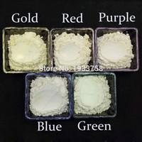ingrosso coloranti pigmentanti-10g Pearlescent Pigment White Symphony Series Powder per Make UP Ombretto Vernice Sapone Tintura Sapone Colorante Pigmento Mica in polvere