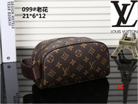 Wholesale makeup bag bow - Free shipping Top quality Canvas oxidizing Leather cosmetic pouch M47515 Famous brand Designer Zippy Toiletry Bag makeup case Drop ships 01
