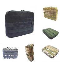 kit de caza al por mayor-5 colores al aire libre Militar MOLLE Admin bolsa táctica bolsa Multi Medical Kit bolsa bolsa de utilidad bolsa de caza que acampa al aire libre CCA10374 30pcs