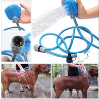 Wholesale plastic bath cleaner - Pet Bathing Tool Comfortable Massager Shower Tool Cleaning Washing Bath Sprayers Dog Scrubber Sprayer Hand Massage OOA4789