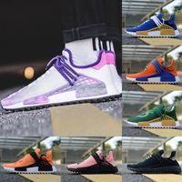 Wholesale Dragon Lights - New Human Race Pharrell Williams Running Shoes Hu trail Men Women Holi Shenron Dragon NERD Ball Vegeta Son Goku Sport Shoe Athletic Sneaker
