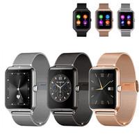 mp4 relógio telefone venda por atacado-2016 bluetooth smart watch z50 com freqüência cardíaca cartão SIM TF mp3 mp4 compatível com telefones Android com caixa de varejo