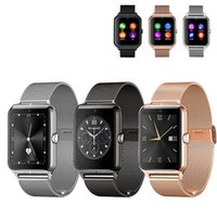 Wholesale Mp4 Compatible - 2016 Bluetooth Smart Watch Z50 with heart rate SIM card TF mp3 mp4 compatible with Android Phones with retail box