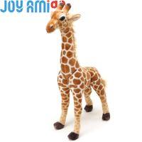 jirafa amarela plush venda por atacado-Jocelyn a girafa | Girafa amarelo bonito Stuffed Animal Grande Pelúcia realista Realista Brinquedo Macio l Presente
