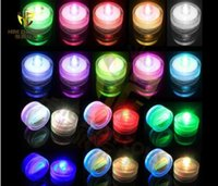 Wholesale Green Submersible Tea Lights - Submersible Waterproof LED Tea Light Candle Lamp Wedding Floralytes Christmas Valentine Party Vase Table Decor--less 600 pieces