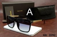 pilotbrille großhandel-Luxuxoberste Qualität New Fashion 0392 0394 Tom-Sonnenbrille für Mann-Frau Erika Eyewear ford Designer-Marken-Sonnenbrille mit ursprünglichem Kasten 5178