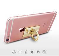 ingrosso adesivi posteriori mobili-Telefono anello anello metallo banda diamante anello fibbia adesivi posteriori pigro cornice del telefono mobile stent