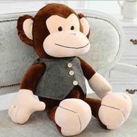 большая мягкая плюшевая обезьяна оптовых-60см / 24 Новые огромные большие плюшевые мягкие игрушки в форме обезьян плюшевые игрушки куклы подарок