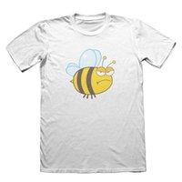 mel de natal venda por atacado-Grumpy Mel Bee Design T-shirt - Dia dos Pais dos homens de Natal # 9182