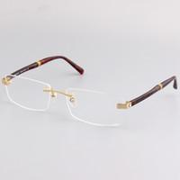meio óculos de prescrição quadro venda por atacado-Novos quadros MB449 homens de negócios coringa seus óculos sem aro Elegante meia caixa com prescrição miopia óculos quadro lunette de vue