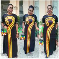 ingrosso abiti islamici bianchi neri-2018 Taglia (L-3XL) Africano Dashiki Nuovo Dashiki l Fashion Design Super Elastic Party Plus Size For Lady