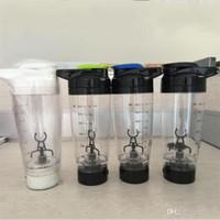 süt sallamak karışımı toptan satış-Dayanıklı Elektrikli Milk Shake Karıştırma Kupa Otomatik Karıştırma Fincan Emniyetli Plastik Su Şişeleri Taşıması Kolay 600 ML 21xm ff
