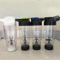 mezcla de batido de leche al por mayor-Taza agitadora de batido de leche eléctrica duradera Taza de mezcla automática Botellas de agua plásticas Safty fácil de llevar 600ML 21xm ff