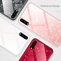 Wholesale chinese glass plates - For Huawei P20 Pro Case Marble Tempered Glass Plating Edge Case For Huawei P20 Lite Cover Case Nova 3E Back Cover For Huawei P20