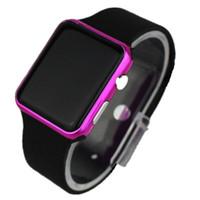 2f8f69f1a9d Marca Rosa Espelho Quadrado Casal Relógios LED Estudante Digital Relógios  Simples Moda Feminina Ceasuir Esporte Rejores Relogio masculino