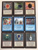 ingrosso carte blu di base-Buona qualità 36 pezzi fai da te Blue Core TCG fai da te P9 Beta gioco da tavolo versione inglese Carte personalizzate Trading carte da gioco carte magiche