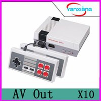 Wholesale adult tv box - 10pcs New Arrival MINI Game Console TV Vedio Family Game Players for Child and Adult Suppoer Nes Games With Box Via DHL YX-NES-01