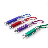 lanterna led usa venda por atacado-Chaveiro Infravermelho UV Tocha 3 em 1 Mini LED FlashLight Caneta Laser Ponte Feixe Multi Função Uso