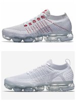 Wholesale red light platinum - Vapormax 2018 Pure Platinum Vapor 2.0 Newest Running Shoes for Men Women Sports knitting trainers fashion designer sneakers Casual shoes
