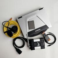 bmw scanner icom groihandel-V12.2019 CF52 I5 4G Gebrauchte Laptops + Wifi Icom Weiter für BMW + New Soft-ware 480GB SSD-Auto Auto-Diagnosetool und Scanner