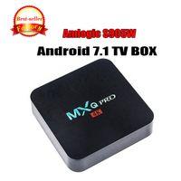 melhores tvs 3d venda por atacado-Best seller MXQ Pro 4K Android 7.1 TV Caixa Amlogic S905W RK3229 Streaming Media Player suporte Wi-fi 3D set top box