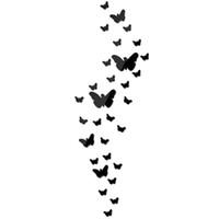diy paper bedroom art großhandel-Urijk DIY Acryl Spiegel Wandaufkleber Schmetterling 3D Aufkleber Hochzeit Dekoration Party Wohnkultur Für Wand Wohnzimmer Aufkleber