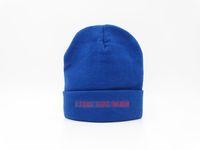 Wholesale Felt Beanies - 2018 I Feel Like Pablo Beanie Fashion Unisex Embroidery Beanies Skullies Knitted Hats Skull Caps Authentic Kanye West The Life Of Pablo Blue