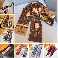 Wholesale scraves women - Designer Silk HANDBAG Bag scarf Headbands New Luxury Brand women silk scraves 100% Top grade silk bag scarf hair Bands 8x120cm