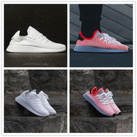 Wholesale Network Shoes - 2018 DEERUPT RUNNER Entire network layer Breathable sneake Casual shoes AAA+quality White Pink Men Women Athletic Sneakers Size 36-44